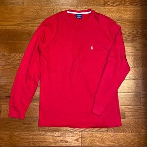 Men's Polo Ralph Lauren Red Sleep Long Sleeve Top